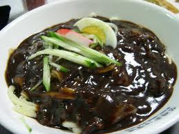 ชาจังมยอน-บะหมี่ดำ