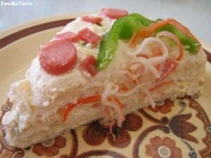 แซนด์วิชขนมปังฝรั่งเศสไส้ปลาแซลมอน