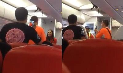 คลิป ผู้โดยสารด่าแอร์ ฉุนถูกเชิญลงจากเครื่อง