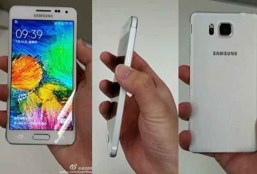 หลุดตัวเป็นๆ Galaxy Alpha สีขาว งานนี้ iPhone มีหนาว