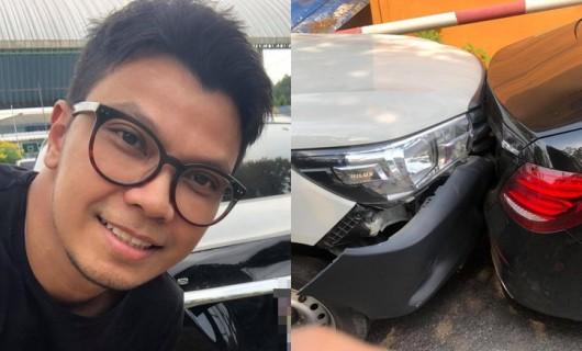"""""""หนุ่ม กะลา"""" เผยอุบัติเหตุถอยรถชนเจอสองเรื่องไม่คาดคิด แห่ดูทะเบียนรถยกใหญ่"""